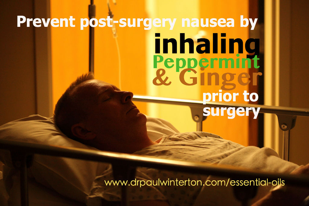 Don't let anesthesia get to you! Prevent post-surgery nausea with ginger and peppermint