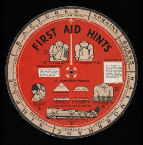 First Aid wheel chart by Double--M at Flickr