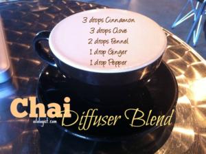 diffuser blend coffee shop chai
