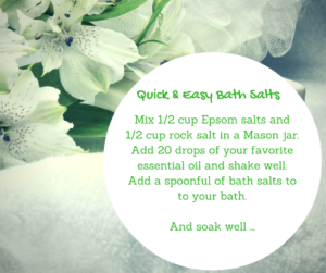 DIY: Quick and easy bath salts recipe